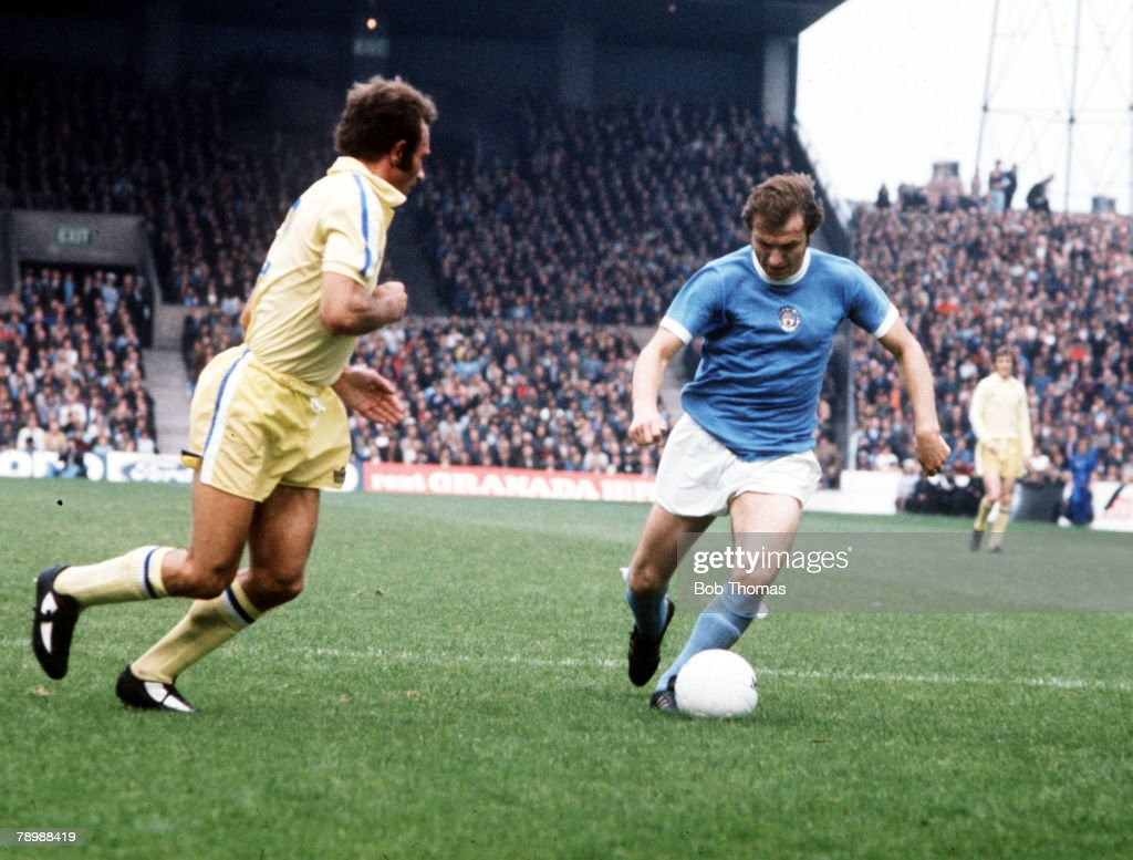 Football, 1970's, Manchester City's Dennis Tueart on the ball