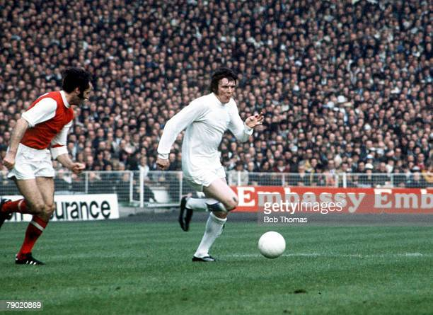 Football 1972 FA Cup Final Wembley Stadium 6th May Leeds United 1 v Arsenal 0 Leeds Uniteds Eddie Gray on the ball