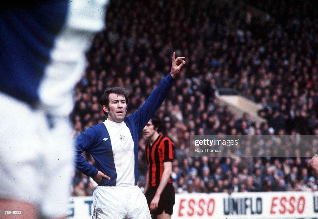 Football. 1975 FA Cup Semi Final Hillsborough, Sheffield, England. 5th April, 1975. Fulham 1 v Birmingham City 1. Birmingham City's Howard Kendall. : News Photo