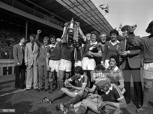 Football 1978 FA Cup Final Wembley 6th May Ipswich Town 1 v Arsenal 0 The victorious Ipswich team celebrate with the trophy after the match