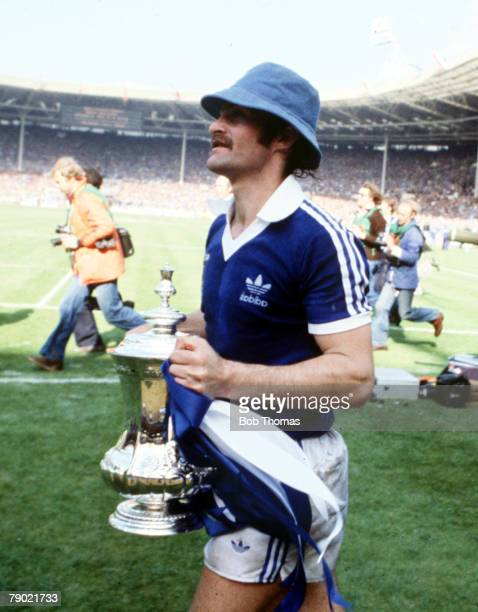 Football 1978 FA Cup Final Wembley Ipswich Town 1 v Arsenal 0 6th May Ipswich Town's captain Mick Mills parades the FA Cup trophy after the match