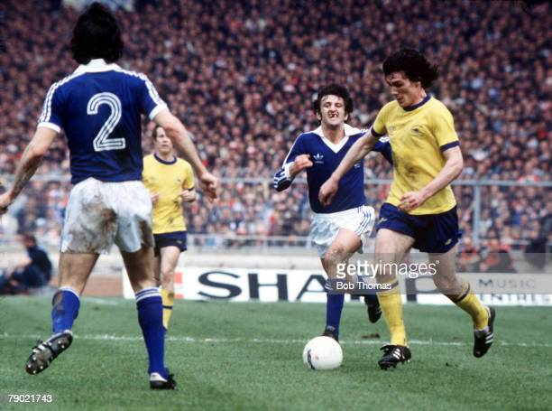 Football 1978 FA Cup Final Wembley Ipswich Town 1 v Arsenal 0 6th May Arsenal's Frank Stapleton on the ball