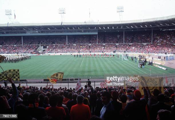 Football 1979 FA Cup Final Wembley Arsenal 3 v Manchester United 2 12th May Crowds watching the teams come out onto the pitch before the start of the...
