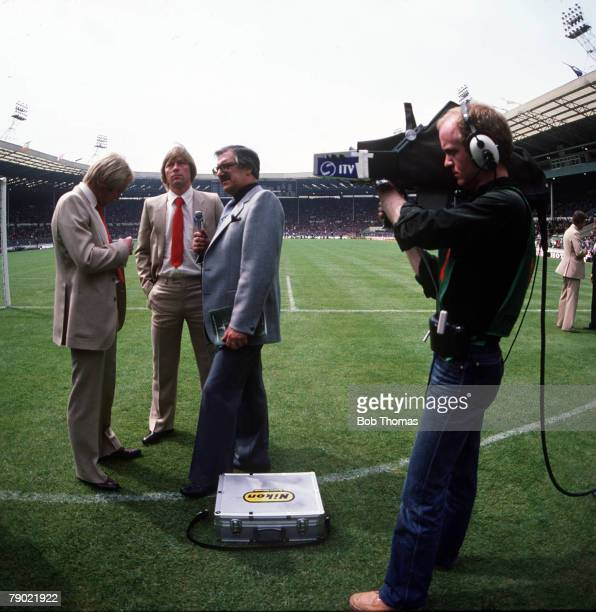 Football 1979 FA Cup Final Wembley Arsenal 3 v Manchester United 2 12th May Manchester United's Jimmy Greenhoff and his brother Brian Greenhoff are...