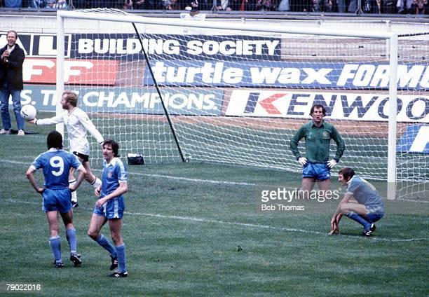 Football 1981 FA Cup Final Wembley 9th May Tottenham Hotspur 1 v Manchester City 1 Manchester City goalkeeper Joe Corrigan on his knees as other...