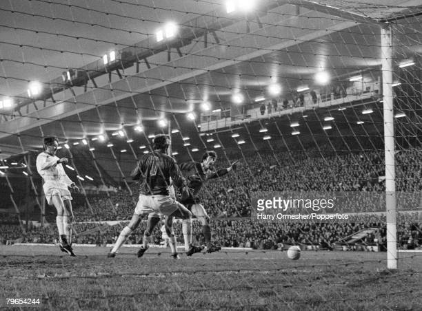 Football 1981 FA Cup Third Round Liverpool 4 v Altrincham 1 3rd January 1981 Altrincham goalkeeper Connaughton is kept busy during a goalmouth...