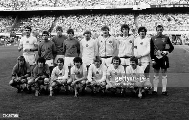 Football 1982 European Cup Final Rotterdam Holland 26th May 1982 Aston Villa 1 v Bayern Munich 0 The Aston Villa team group before the match