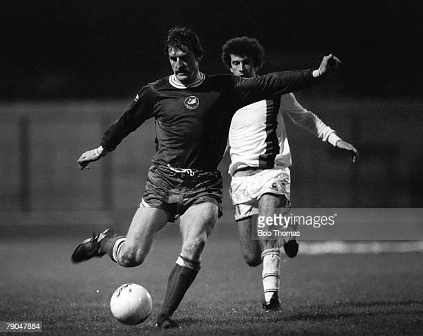 Football, 1982 European Cup Winners Cup, 2nd Round, First Leg, Swansea, Wales, 20th October 1982, Swansea City 0 v Paris St, Germain 1, Swansea's...