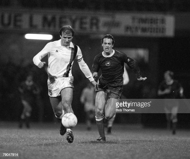 Football 1982 European Cup Winners Cup 2nd Round First Leg Swansea Wales 20th October 1982 Swansea City 0 v Paris St Germain 1 PSG's Dominique...