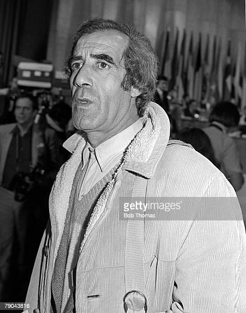 Football 1982 World Cup Draw Madrid Spain 16th January 1982 Algerian assistant manager Mohammed Maouche attending the draw ceremony at the Palacio De...