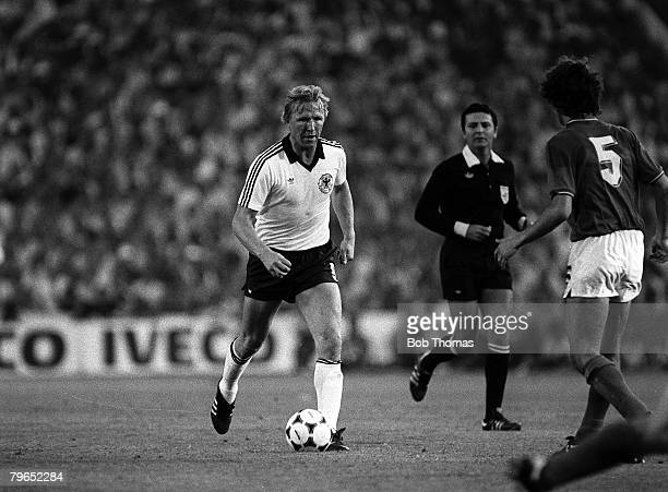 Football 1982 World Cup Final Madrid Spain 11th July 1982 Italy 3 v West Germany 1 West Germany's Horst Hrubesch on the ball