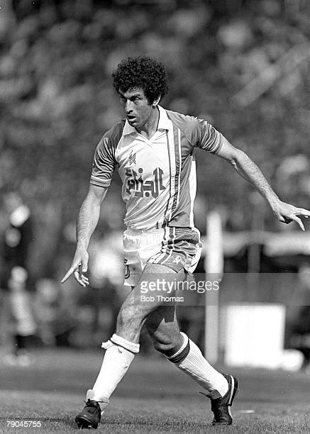 Football 1982 World Cup Finals Oviedo Spain 24th June 1982 Algeria 3 v Chile 2 Algeria's Mustapha Dahleb during their Group B match