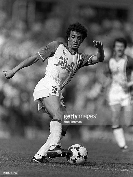 Football 1982 World Cup Finals Oviedo Spain 24th June 1982 Algeria 3 v Chile 2 Algeria's Tedj Bensadula on the ball during their Group B match