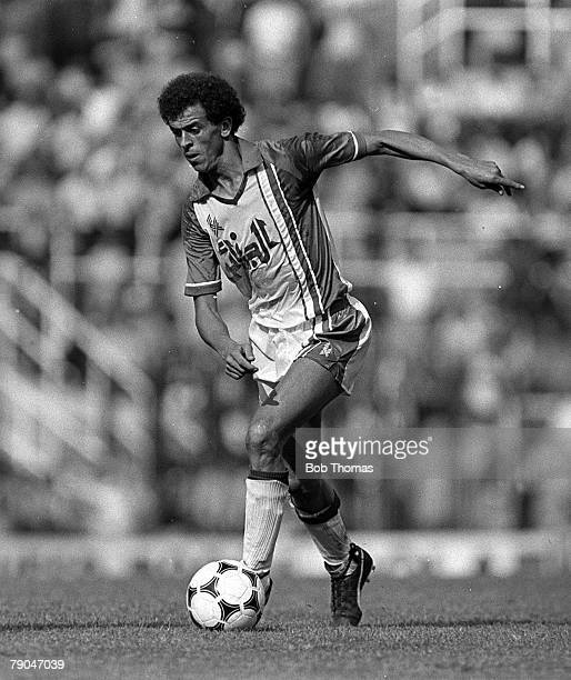 Football 1982 World Cup Finals Oviedo Spain 24th June 1982 Algeria 3 v Chile 2 Algeria's Salah Assad on the ball during their Group B match