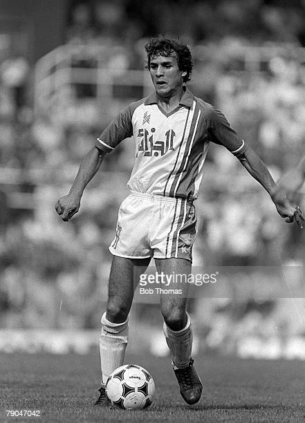 Football 1982 World Cup Finals Oviedo Spain 24th June 1982 Algeria 3 v Chile 2 Algeria's Rabah Madjer on the ball during their Group B match