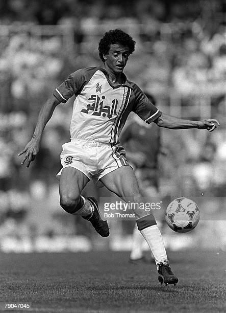 Football 1982 World Cup Finals Oviedo Spain 24th June 1982 Algeria 3 v Chile 2 Algeria's Tedj Bensadula during their Group B match