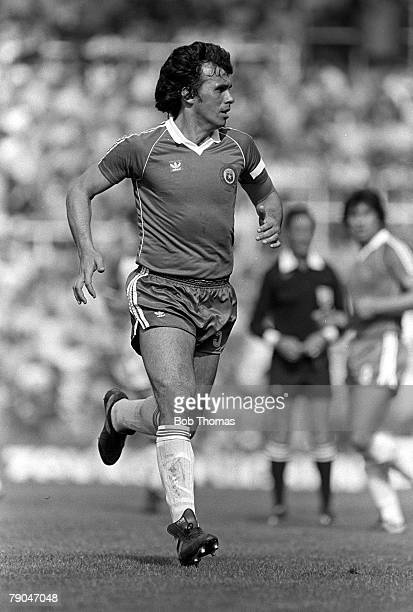 Football 1982 World Cup Finals Oviedo Spain 24th June 1982 Algeria 3 v Chile 2 Chile's Elias Figueroa during their Group B match
