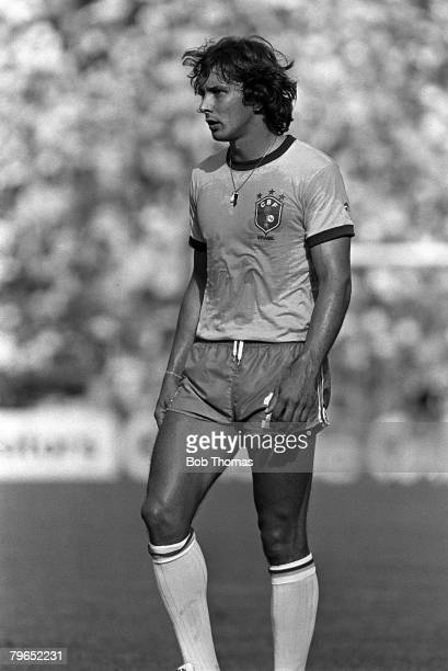 Football 1982 World Cup Finals Second Phase Group C Barcelona Spain 5th July 1982 Italy 3 v Brazil 2 Brazil's Eder