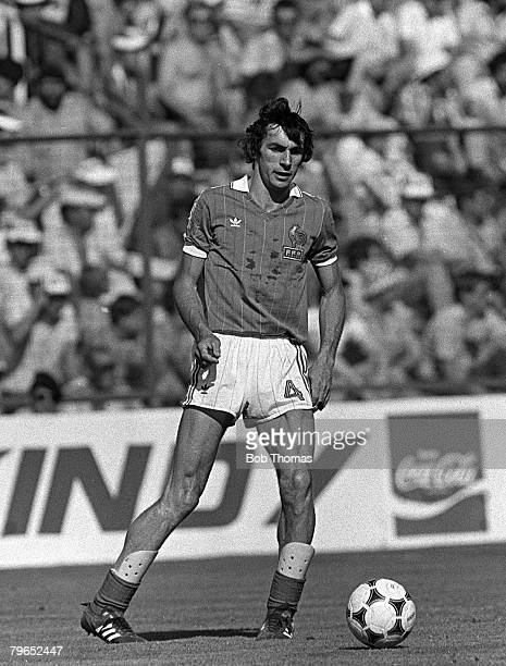 Football 1982 World Cup Finals Second Phase Group D Madrid Spain 28th June 1982 France 1 v Austria 0 France's Maxime Bossis