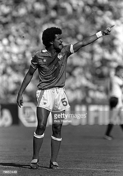 Football 1982 World Cup Finals Second Phase Group D Madrid Spain 28th June 1982 France 1 v Austria 0 France's Gerard Janvion