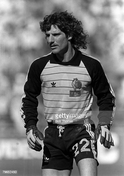 Football 1982 World Cup Finals Second Phase Group D Madrid Spain 28th June 1982 France 1 v Austria 0 French goalkeeper JeanLuc Ettori