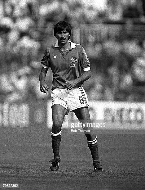 Football 1982 World Cup Finals Second Phase Group D Madrid Spain 4th July 1982 France 4 v Northern Ireland 1 France's Bernard Genghini