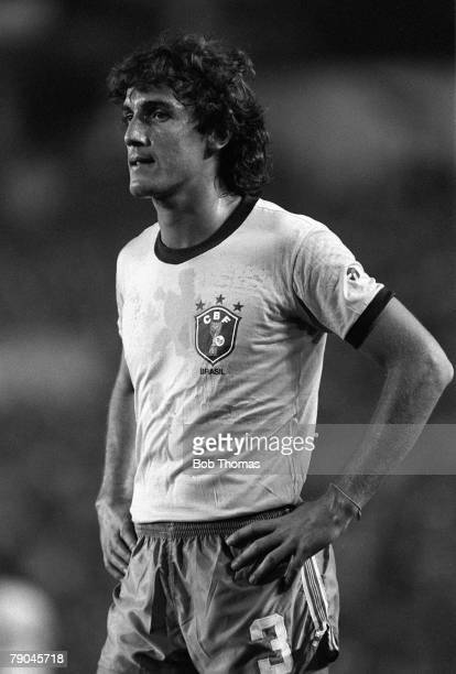 Football 1982 World Cup Finals Seville Spain 23rd June 1982 Brazil 4 v New Zealand 0 Brazil's Oscar during their Group F match