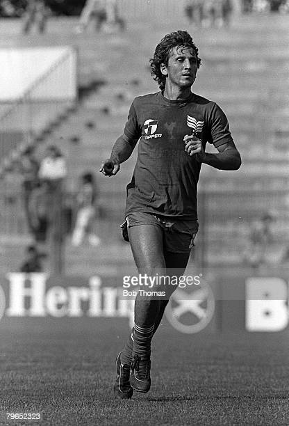 Football 1982 World Cup Finals Spain Brazil's Zico during a training session