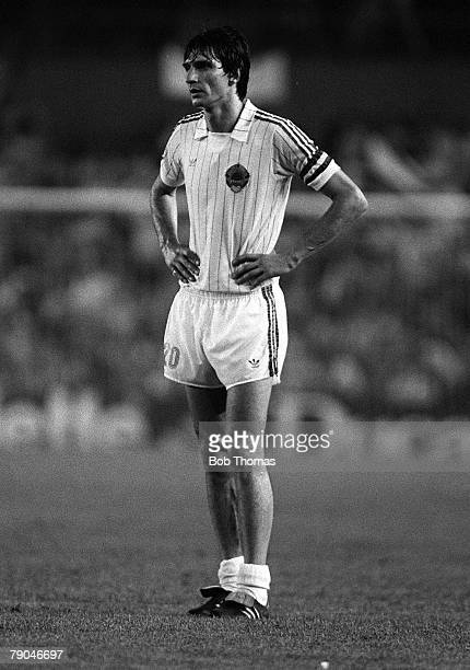 Football 1982 World Cup Finals Valencia Spain 20th June 1982 Spain 2 v Yugoslavia 1 Yugoslavia's Ivica Surjak during the Group E match