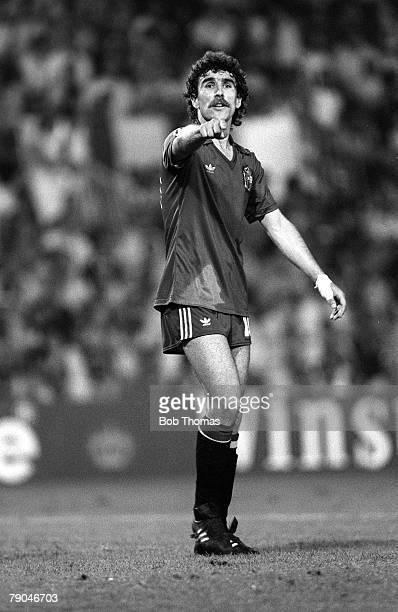 Football 1982 World Cup Finals Valencia Spain 20th June 1982 Spain 2 v Yugoslavia 1 Spain's Jesus Zamora during the Group E match