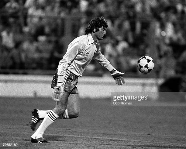 Football 1982 World Cup Finals Zaragoza Spain 17th June 1982 Northern Ireland 0 v Yugoslavia 0 Northern Ireland's goalkeeper Pat Jennings takes a...