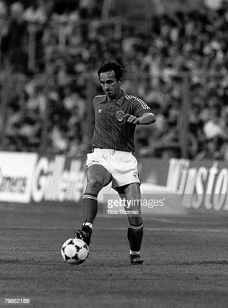 Football 1982 World Cup Finals Zaragoza Spain 17th June 1982 Northern Ireland 0 v Yugoslavia 0 Yugoslavia's Edhem Sljivo on the ball during the group...