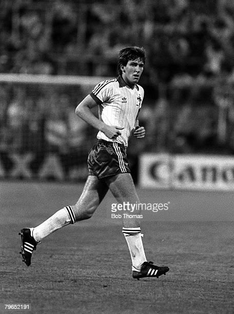 Football 1982 World Cup Finals Zaragoza Spain 17th June 1982 Northern Ireland 0 v Yugoslavia 0 Northern Ireland's Norman Whiteside during the group E...