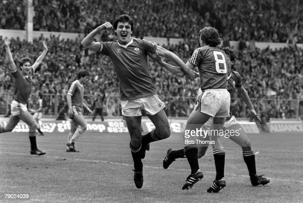 Football 1983 FA Cup Final Wembley England 21st May 1983 Manchester United 2 v Brighton and Hove Albion 2 Manchester United's Frank Stapleton...