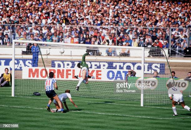 Football 1987 FA Cup Final Wembley 16th May Coventry City 3 v Tottenham Hotspur 2 Tottenham Hotspur's goalkeeper Ray Clemence is left stranded by the...