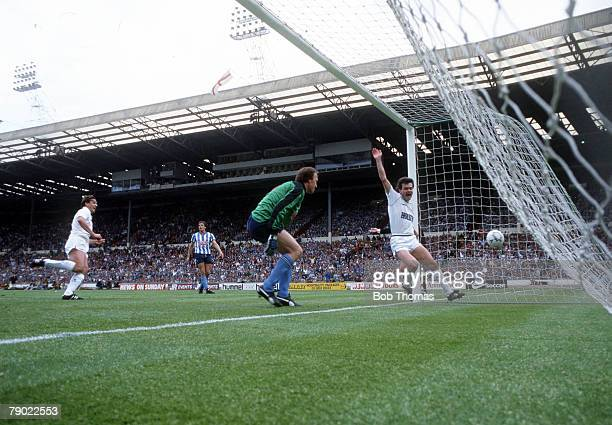 Football 1987 FA Cup Final Wembley 16th May Coventry City 3 v Tottenham Hotspur 2 Tottenham's Gary Mabbutt scores his sides second goal past Coventry...