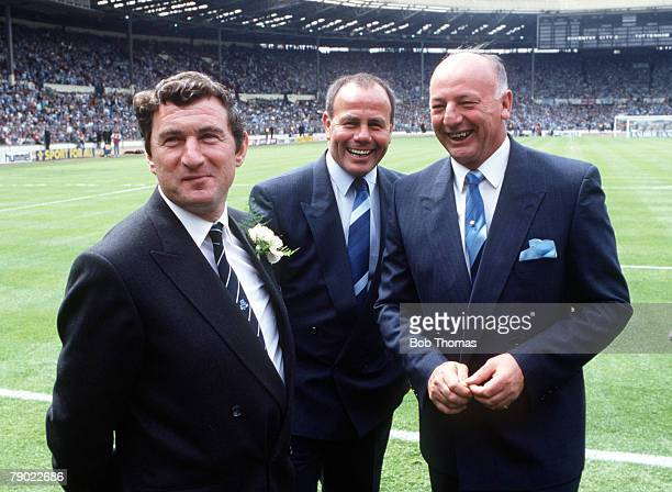 Football 1987 FA Cup Final Wembley 16th May Coventry City 3 v Tottenham Hotspur 2 Tottenham Hotspur manager David Pleat with Coventry's managerial...