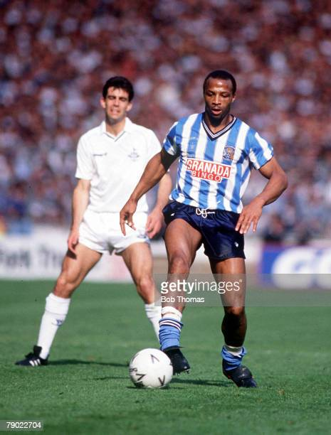 Football 1987 FA Cup Final Wembley 16th May Coventry City 3 v Tottenham Hotspur 2 Coventry's Cyrille Regis on the ball