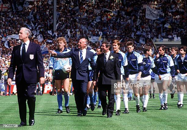 Football 1987 FA Cup Final Wembley 16th May Coventry City 3 v Tottenham Hotspur 2 Coventry manager John Sillett and Tottenham manager David Pleat...