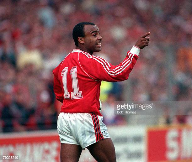 Football 1990 FA Cup Final Replay Wembley 17th May Manchester United 1 v Crystal Palace 0 Manchester United's Danny Wallace