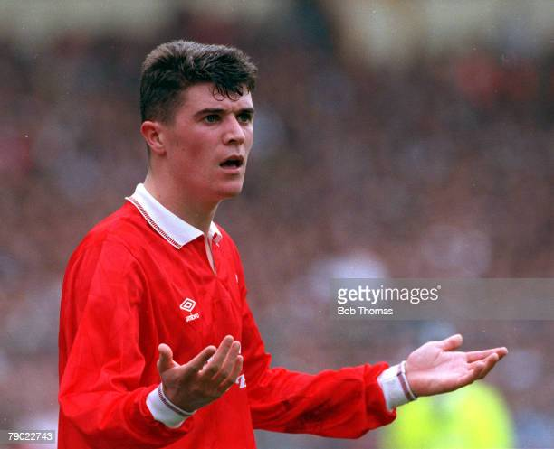 Football, 1991 FA Cup Final, Wembley, 18th May Tottenham Hotspur 2 v Nottingham Forest 1, Nottingham Forest's Roy Keane protests his innocence
