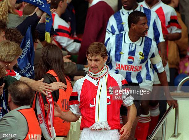 Football 1993 FA Cup Final Wembley 15th May Arsenal 1 v Sheffield Wednesday 1 Arsenal's captain Tony Adams after the match ended in a draw