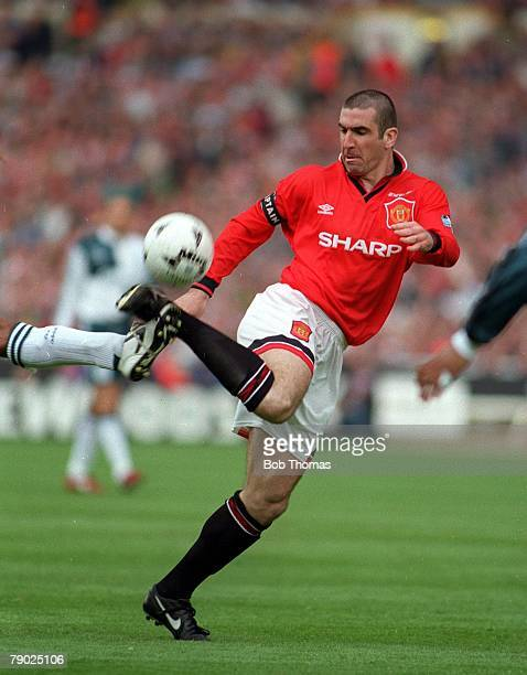 Football 1996 FA Cup Final Wembley 11th May Manchester United 1 v Liverpool 0 Manchester United captain Eric Cantona controls the ball