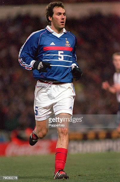 Football 1999 International Friendly Wembley 10th February England 0 v France 2 France's Laurent Blanc