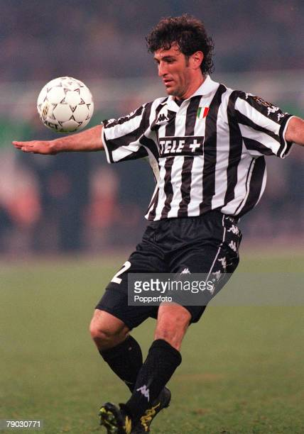 Football 1999 UEFA Champions League SemiFinal Second leg 21st April Turin Juventus 2 v Manchester United 3 Juventus' Ciro Ferrara