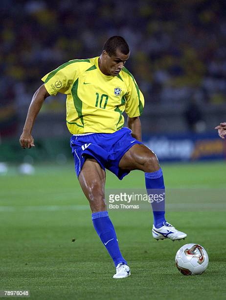 Football 2002 FIFA World Cup Final Yokohama Japan 30th June 2002 Germany 0 v Brazil 2 Brazil's Rivaldo