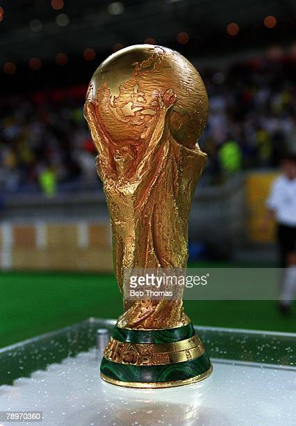 Football 2002 FIFA World Cup Finals Final Yokohama Japan 30th June 2002 Germany 0 v Brazil 2 The FIFA World Cup on display in the stadiumCredit...