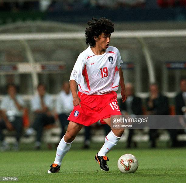 Football 2002 FIFA World Cup Finals Group D Incheon South Korea 14th June 2002 South Korea 1 v Portugal 0 South Korea's Ahn Jung Hwan Credit...