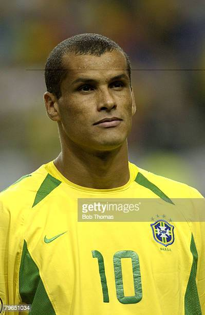 Football 2002 FIFA World Cup Finals Japan June 2002 A portrait of Brazil's Rivaldo