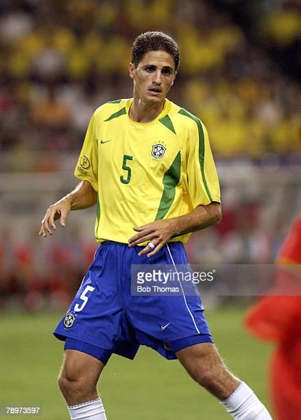 Football 2002 FIFA World Cup Finals Kobe Japan 17th June 2002 Brazil 2 v Belgium 0 Edmilson of Brazil